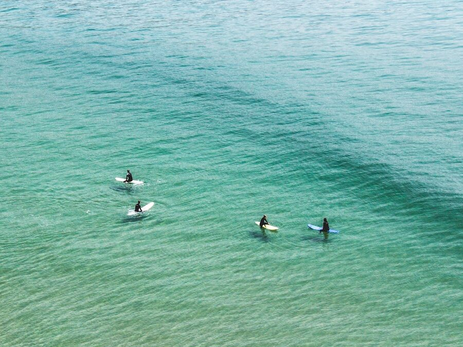 Surfers in the lineup